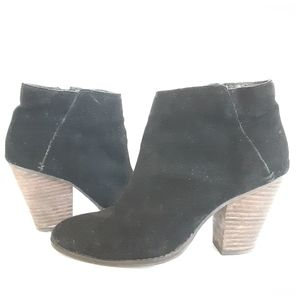 DV Heeled Ankle Black Suede Boots Sz 7.5